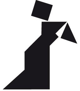 TANGRAM longue robe noire