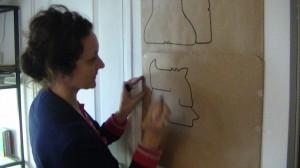 """Atelier """"J'apprends à dessiner les animaux avec Janik Coat"""", le 26 octobre 2013."""
