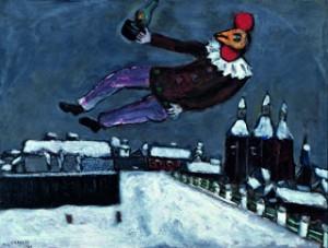 Marc Chagall, Homme-coq au-dessus de Vitebsk