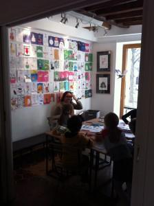 Cours de bande dessinée au Square des artistes