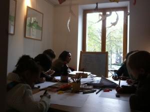 Atelier bande dessinée au Square des artistes