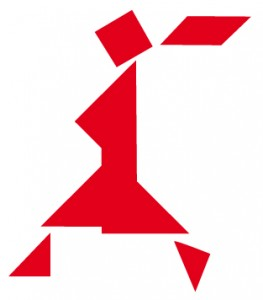 TANGRAM femme couette rouge