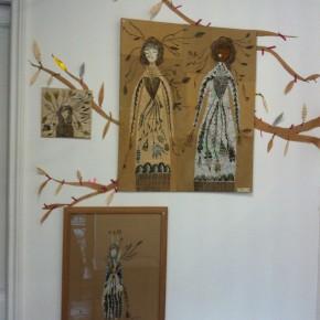 L'abre de la vie d'Aurélia Fronty au Square des artistes, les jumelles