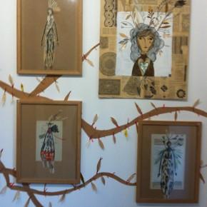 L'abre de la vie d'Aurélia Fronty au Square des artistes, dans la deuxième salle