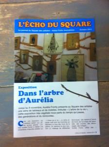 L'Echo du Square, magazine réalisé avec les enfants dans le cadre de l'atelier de vacances Petits journalistes (Toussaint 2014)